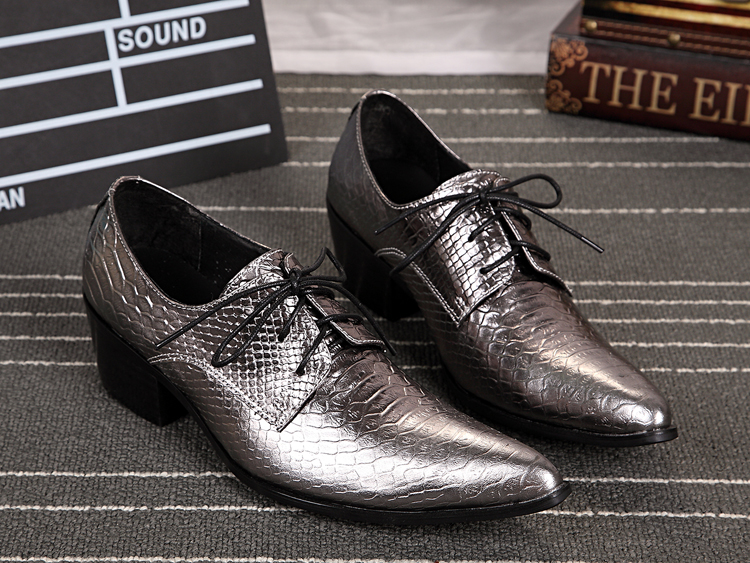 Luxury gold mens dress shoes iron pointed toe oxford shoes for men wedding loafers mens italian leather shoes flats size 13 in Formal Shoes from Shoes