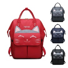 Lequeen Backpack Cat style Diaper bag  Lightweight Mommy Baby maternity Travel Multiple Fashion Nursing Bag