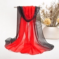 two tone chiffon fashion long scarf muslim shawls