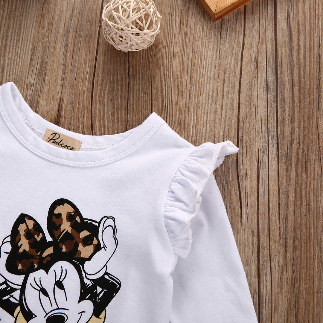 532242ea2d7 ... One Piece Cute Lovely Newborn Baby Girl Cotton Minnie Mouse Long Sleeve  Romper Jumpsuit Outfits Clothes ...