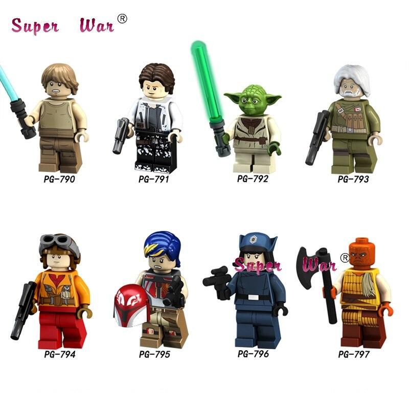 50pcs Star wars Han Solo Luke Skywalker Rebel Pilots Sabine Wren Yoda Special Offer Clone Figure building block for children toy