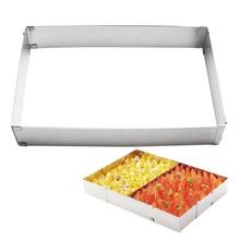 Cake-Mold Rectangular-Shape Stainless-Steel Large Cake-Decoration-Accessories Baking-Tool