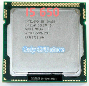 Free shipping Intel Core i5-650 Processor i5 650 3.2 GHz 4MB Cache Socket LGA1156 32nm 73W Desktop CPU scrattered pieces