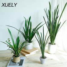Artificial flower PU green planting orchid leaves Home living room floor vase decorative fake leaves Wedding DIY road decoration
