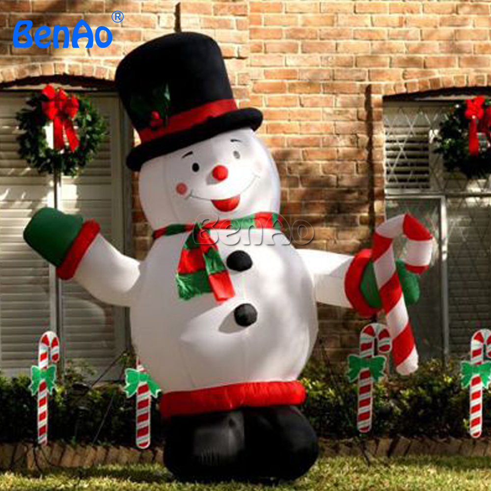 X053 3m Hight Fat Airblown Inflatable Christmas Decorations Inflatable  Snowman Yard Holiday Decoration