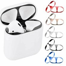 Anti-dust Metal Guard Protective Film For Apple Airpods Case Cover Dust-proof Sticker Skin for Air Pods Accessories