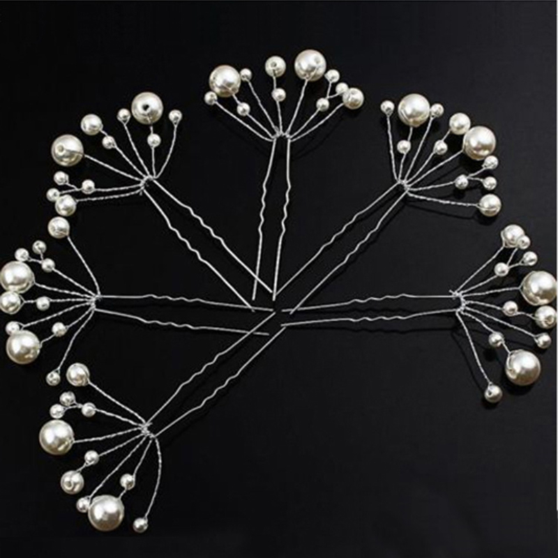 HTB149ZpOVXXXXa1aXXXq6xXFXXXi 5-Pieces Pearl Flower Wedding Hair Clip Ornaments For Women
