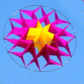 Envío gratis nuevo diseño del arco iris 3D kite lotus con la línea ripstop nylon tejido de la cometa weifang festival cometas y accesorios hcxkite