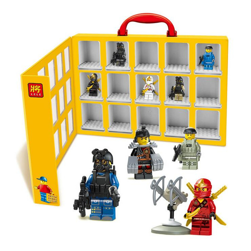 2016 New Portable Mini figures house Minifigures Display Case Building Blocks Toys Storage Box Compatible With Kids P149