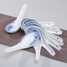 Chinesischen Stil Keramik Suppenlöffel Bone China Geschirr Löffel Blau Und China Porzellan Kleine Reis Löffel Ein Stück Geschirr