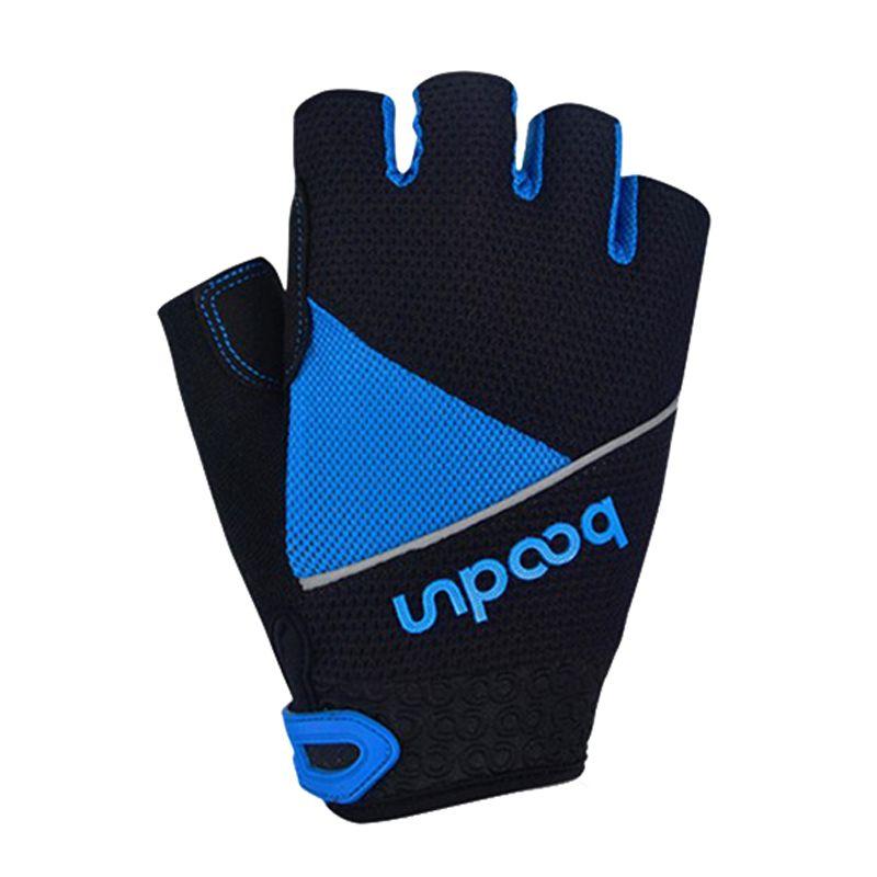 HOWO Running Gloves New Shockproof Half Finger Fitness Bicycle Bike Gloves M L XL XXL blue