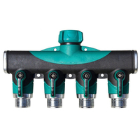 4 Way Hose Splitter for Garden 4 Way Water Tap Converter Connector Splitter Hose Pipe Adapter Garden Irrigation Watering
