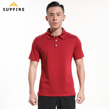 Supfire Men Sports Polo Shirt Running Cycling Fishing T-shirt Fitness Short Sleeve Quick Dry Hiking Sportswear C022