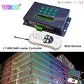LT-LED RGB/DMX Controller con telecomando, 39 cambia modalità, ricevere segnale DMX512, con ora e data per la striscia principale