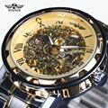 Прозрачный Золотые Часы Мужские Часы Лучший Бренд Класса Люкс Relogio Мужской Часы Мужчины Повседневная Часы Montre Homme Механические Часы Скелет
