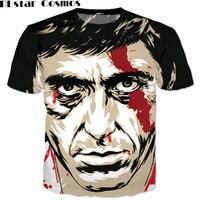 PLstar Cosmos Thời Trang Mùa Hè 3d t áo sơ mi harajuku tee áo sơ mi Scarface Al Pacino 3d t sơ mi phụ nữ/men casual áo phông tees R4805
