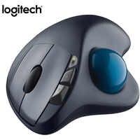 100% Original Logitech M570 2.4 Ghz Mouse Trackball Sem Fio Vertical Ergonômico Desenho Mouses A Laser Profissional Para Win10/8/ 7