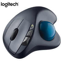 100% Original Logitech M570 2.4Ghz Wireless Trackball Mouse Ergonomic Vertical Professional Drawing Laser Mice For Win10/8/7
