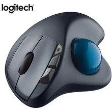 100% Originele Logitech M570 2.4Ghz Draadloze Trackball Muis Ergonomische Verticale Professionele Tekening Laser Muizen Voor Win10/8/ 7