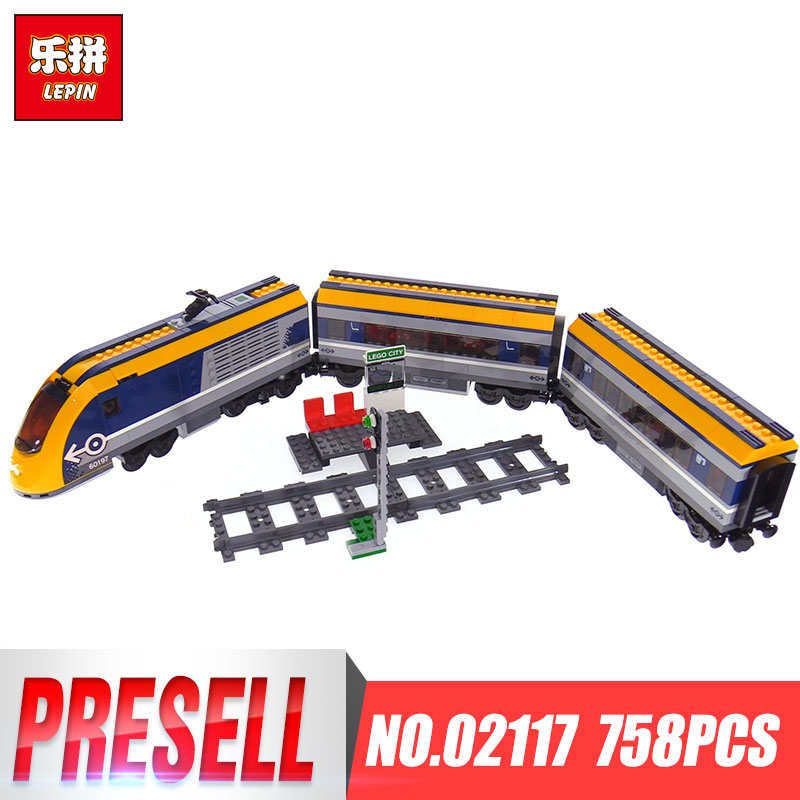 Lepin 02117 City Series LegoingLYS 60197 Toys Passenger Train Set Model Building Blocks Bricks Kits Toys for Kids Birthday Gifts