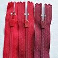 50 teile/los Meisten Freies Verschiffen Nylon Ykk reißverschluss Close end Verschluss Rot für Hosen Rock Kleid Kragen Nähen Zubehör großhandel-in Reißverschlüsse aus Heim und Garten bei
