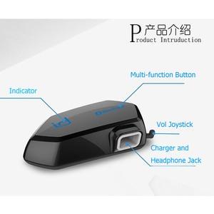 Image 4 - Moto A1 IPX6 Waterproof Boomless Mic Helmet Bluetooth Headset Motorcycle Comunicador Capacete Headphone Speaker for 2 Phones GPS