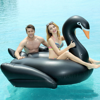 190cm Giant Swan Inflatable Swimming mattress Ride-on Pool Float Island Raft floating Beach Lounger