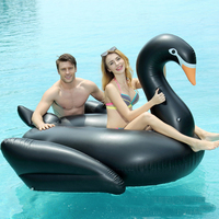 190cm Giant Inflatable Swan Ride on Pool Float for Swimming Adult Inflatable Swan Island Pool Raft floating Beach Lounger water