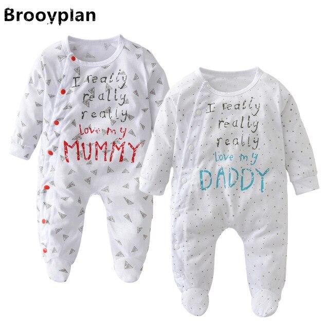 2018 neue herbst baby junge m dchen strampler baby kleidung neugeborene liebe mama und papa. Black Bedroom Furniture Sets. Home Design Ideas