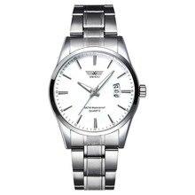 Luxury Watch Men Waterproof Business Watches Silver Stainless Steel Quartz Wristwatch relojes hombre orologio uomo