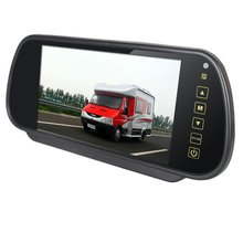 цена на 100% New Car 7 inch 7  TFT LCD Rear View Mirror MP5 SD Card USB Monitor 2CH Video Input Touch Button Free Shipping