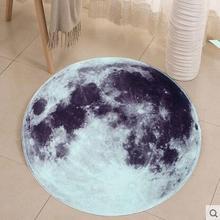 NEW Retro 3D full moon round area rugs round carpet for kids room bathing bape rug bedroom mat non-slip 60*60 80*80 computer mat