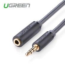 Ugreen высокое качество расширение Аудио кабель позолоченный 3.5 мм штекер женский джек разъем стерео аудио aux Наушники Расширение шнур