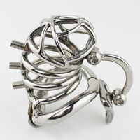 Male Chastity Belt Stainless New Design Steel Chastity Cage Metal Penis Lock With Adjustable Testicular Separated Hook Device