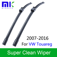 QEEPEI 26 26 Wiper Blades For Volkswagen Touareg 2007 Onwards Silicone Rubber Windscreen Windshield Auto Car