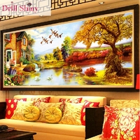 CNA 5D diy diamond painting scenery full square rhinestone drill cross stitch mosaic picture ribbon diamond embroidery landscape