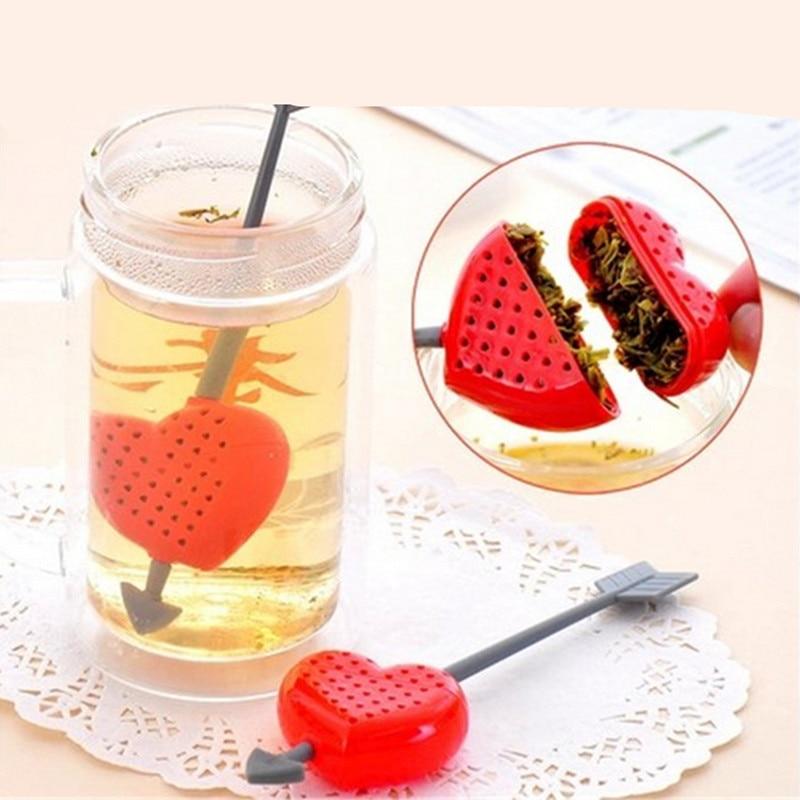 NºPersonalidad forma de corazón del té filtro infuser con agitador ...