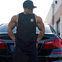 Brand Fitness Clothing Gyms Tank Top Mens Bodybuilding Stringers Cotton Patchwork Mesh Workout Singlet Sporting Sleeveless Shirt(China)