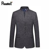 Mens misto lana collare cinese classico Maschile giacca tuta slim fit Uomini giacca sportiva casuale costume prom abiti da sposa