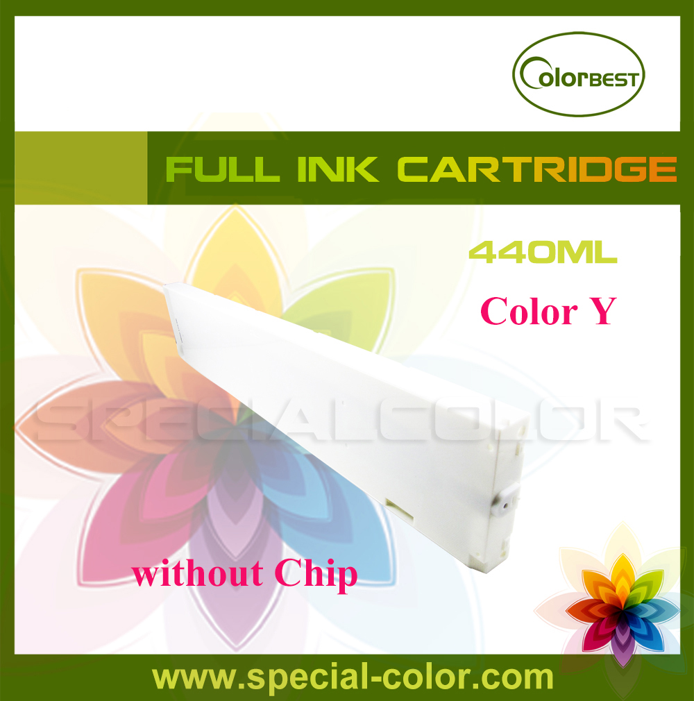 Roland/Mimaki/Mutoh ink cartridge Eco solvent 440ml without chip color Y solvent printer ink pump for roland mimaki mutoh printer