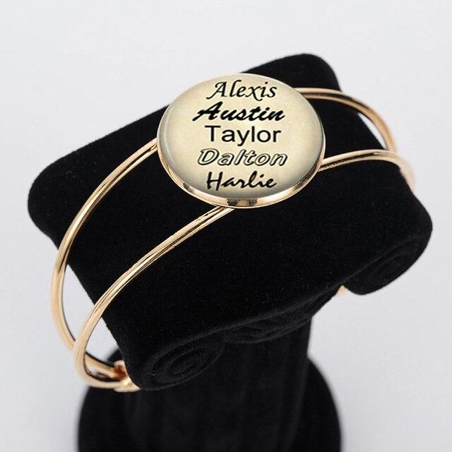 Us 199 Gepersonaliseerde Namen Armband Custom Namen Van Uw Baby Kind Armbanden Moeder Vader Grootouder Geliefde Cadeau Voor Familie Lid Gift In