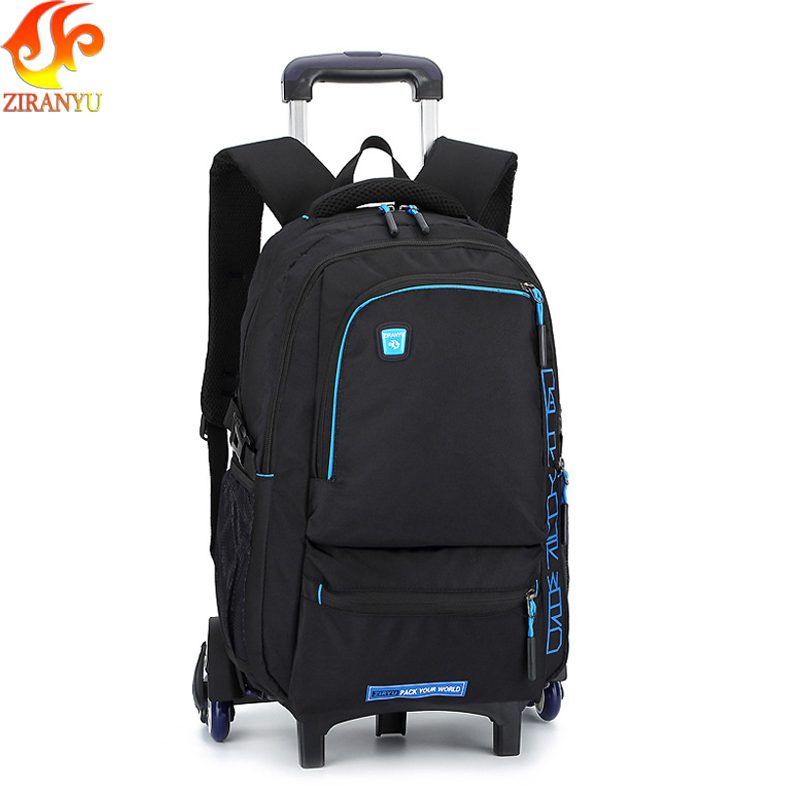 ZIRANYU Latest Removable Children School Bags With 3 Wheels Stairs Kids boys girls backpacks Trolley Schoolbag Luggage Book Bags latest removable children school bags with 3 wheels stairs kids boys girls trolley schoolbag luggage book bags wheeled backpack