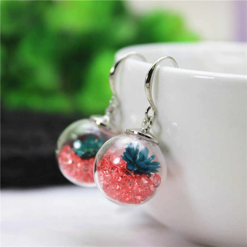 2019 new fashion style metal crystal drop earrings for women elegant real daisy flower gift earrings