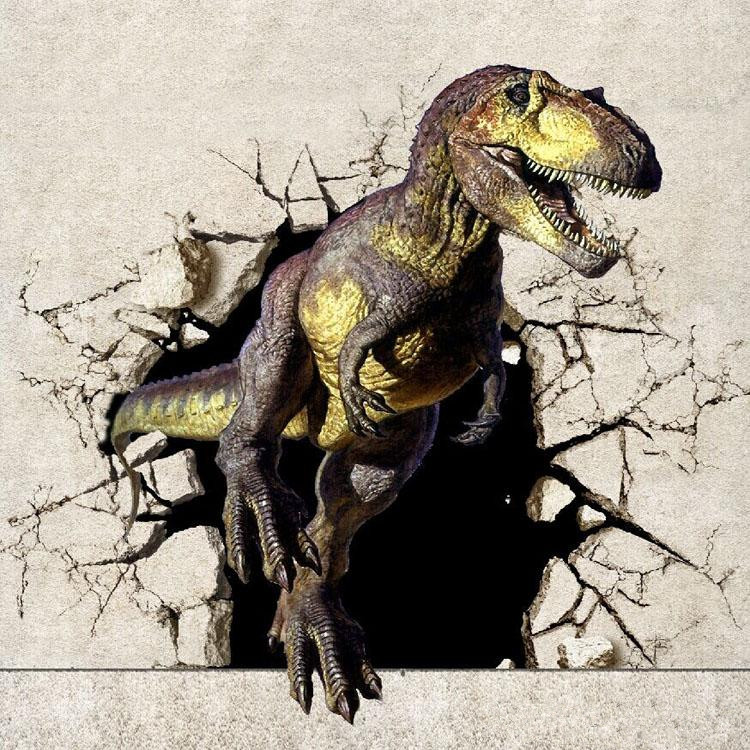 2016 custom 3d dinosaur wall mural wallpaper papel de for Dinosaur mural wallpaper