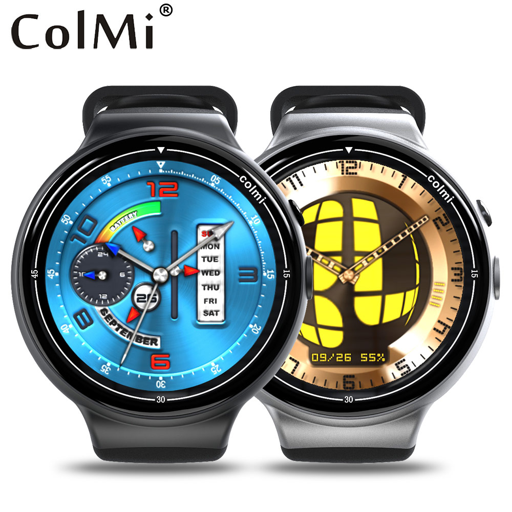 Colmi Flagship Smart Watch Ram 2GB Rom 16GB 2MP WIFI 3G GPS Heart Rate Monitor MTK6580 Quad Core Android Smartwatch crcular shape no 1 d5 android 4 4 bluetooth gps smart watch with heart rate monitor google play gps 4g rom 512m ram smartwatch
