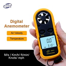 Digital Anemometer Wind Speed Gauge Meter GM816 30m s 65MPH Hand held Anemometro Thermometer LCD Air