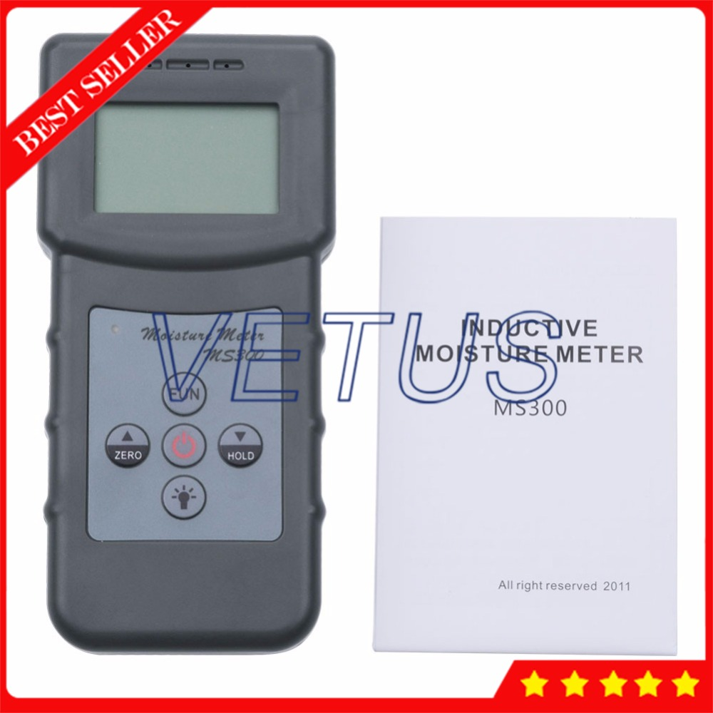 0-70% MS300 Professional Digital Concrete Wall Moisture Analyzer Tester Meter digital wood moisture meter wood humidity meter damp detector tester paper moisture meter wall moisture analyzer md918 4 80%