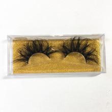 Kabarık 25mm Lashes Doğal 3D Vizon Kirpik Uzatma Uzun Yanlış Eyelashes Faux Cils Hacmi Sahte Kirpikler Yanlış Lashes