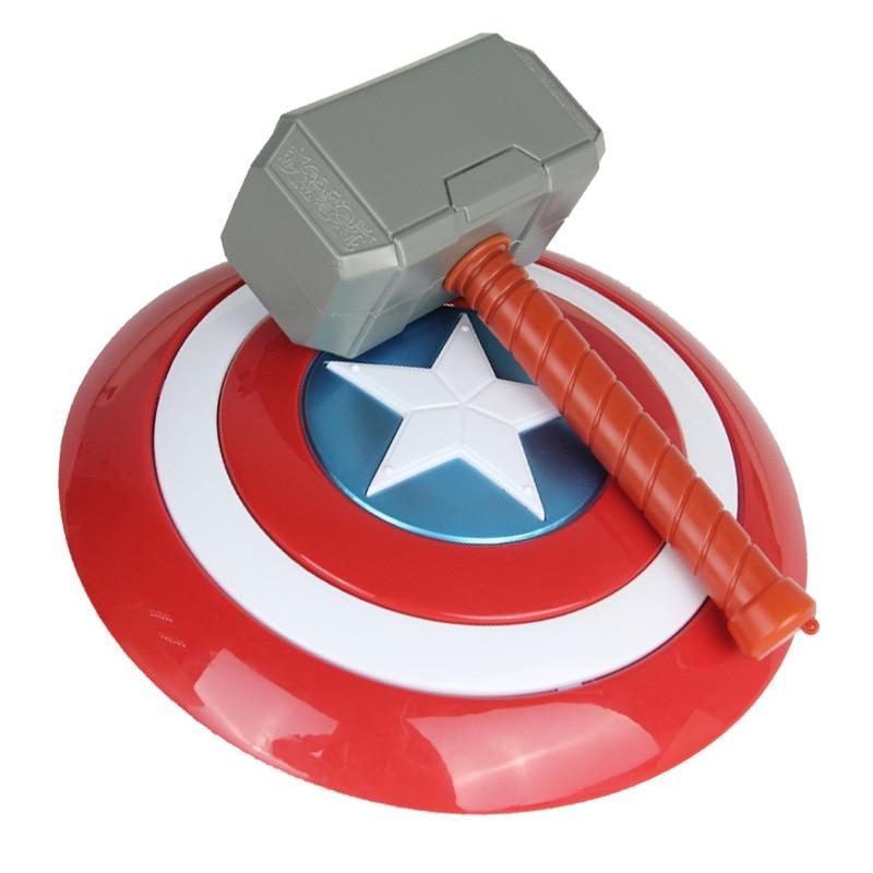 Avengers Endgame 32cm Captain America Shield Halloween Cosplay Prop 28cm Thor Hammer Model