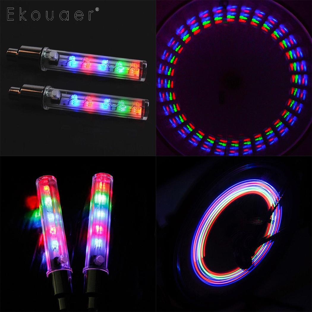 Bicycle Decorative Light 5 LEDs Bicycle Tire Valve Cap Tube Lights Waterproof Styling 7 Flash Function Emergency Warning Light in Bicycle Light from Sports Entertainment